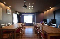 セミナールームの様子。イベントにも使えますが、普段は通常利用できます。(2015-09-28,共用部,LIVINGROOM,1F)