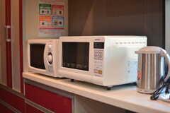 キッチン家電の様子。(2015-09-28,共用部,KITCHEN,1F)