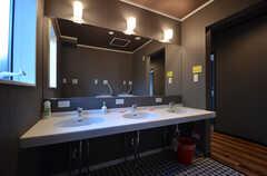 洗面スペースの様子2。(2015-09-28,共用部,OTHER,1F)