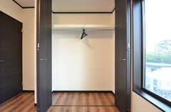 クローゼットの様子。(107号室)(2015-09-28,専有部,ROOM,1F)