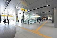 地下鉄東西線・国際センター駅構内の様子。(2016-04-27,共用部,ENVIRONMENT,1F)