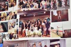 壁には10年分の思い出写真が飾られています。入居者同士でご結婚された方の、結婚写真が飾られていました。(2018-05-30,共用部,OTHER,1F)