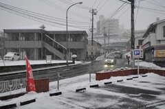 JR仙山線・北山駅からシェアハウスへ向かう道の様子。(2012-03-03,共用部,ENVIRONMENT,1F)