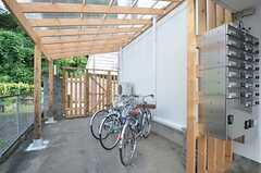 自転車置き場の様子。(2014-09-02,共用部,GARAGE,1F)