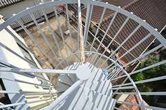 らせん階段の様子。(2015-09-29,共用部,OTHER,4F)