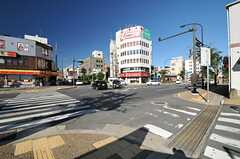 各線・新大宮駅からシェアハウスへ向かう道の様子。(2013-09-17,共用部,ENVIRONMENT,1F)