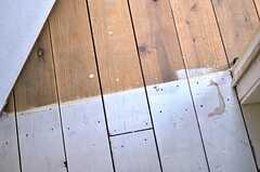 床は専有部と廊下とのボーダーがくっきり。(208号室)(2012-01-15,専有部,ROOM,2F)