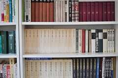 本棚には文学書が並んでいます。(2013-04-08,共用部,LIVINGROOM,2F)
