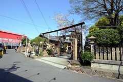加美駅のすぐ近くには神社があります。(2013-04-08,共用部,ENVIRONMENT,1F)