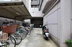 駐輪場の様子。(2012-03-22,共用部,GARAGE,1F)