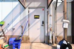 玄関ドアの様子。建物の裏口に当たります。(2019-05-15,周辺環境,ENTRANCE,1F)