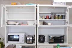 食器棚の様子2。(2019-05-15,共用部,KITCHEN,3F)
