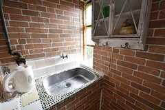 洗面台の様子。(209号室)(2017-02-22,専有部,ROOM,2F)