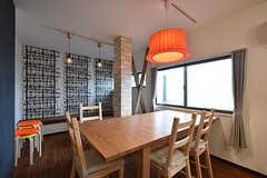 ダイニングテーブルの様子。(2016-10-01,共用部,LIVINGROOM,1F)