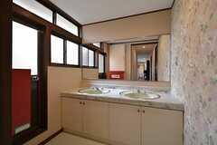 洗面台の様子。(2015-05-19,共用部,OTHER,2F)