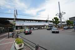 近鉄奈良線・八戸ノ里駅前の様子。(2015-05-19,共用部,ENVIRONMENT,1F)