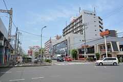 近鉄奈良線・八戸ノ里駅前の様子2。(2015-05-19,共用部,ENVIRONMENT,1F)