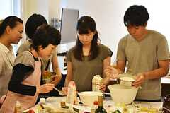 料理講習イベントの様子5。(2016-06-12,共用部,PARTY,2F)