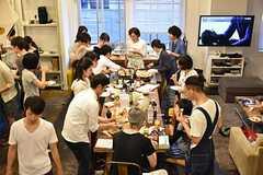 料理講習イベントの様子11。(2016-06-12,共用部,PARTY,2F)