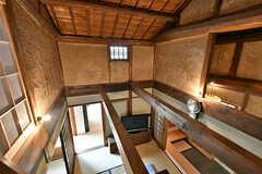屋根裏から見た居間の様子。(2017-07-12,共用部,OTHER,2F)
