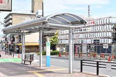 南海本線・泉佐野駅前のバスのりば。(2017-07-12,共用部,ENVIRONMENT,1F)