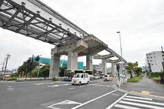 大阪モノレール彩都線・豊川駅前の様子。(2016-09-12,共用部,ENVIRONMENT,1F)
