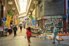 アーケード商店街なので、雨に濡れずに大阪市営地下鉄・太子橋今市駅まで歩けます。(2015-11-16,共用部,ENVIRONMENT,1F)