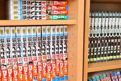 リビングの本棚には漫画がたくさん置いてあります。(2018-01-15,共用部,OTHER,4F)