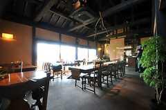 運営事業者さんが運営するカフェの様子。(2014-04-09,共用部,ENVIRONMENT,1F)