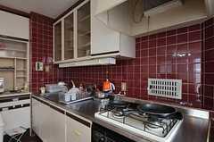 シェアハウスのキッチンの様子。(2011-08-08,共用部,KITCHEN,3F)