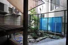 庭の様子。(102号室)(2011-08-08,専有部,ROOM,1F)