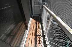 ベランダの様子。(203号室)(2011-08-08,専有部,ROOM,2F)