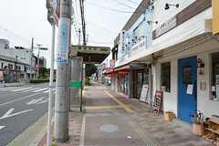 各線・鴫野駅前のバス停。(2015-08-11,共用部,ENVIRONMENT,1F)