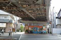 各線・鴫野駅前の様子。(2015-08-11,共用部,ENVIRONMENT,1F)