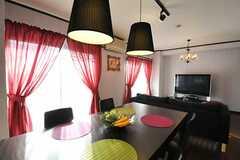 シェアハウスのリビングの様子2。女性専用らしい空間です。(2010-10-10,共用部,LIVINGROOM,7F)