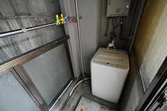 洗濯機の様子。(302号室)(2017-08-30,専有部,ROOM,3F)