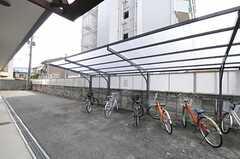 自転車置き場の様子。(2011-08-08,共用部,GARAGE,1F)