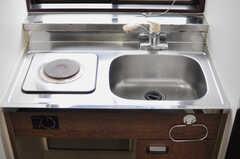 ミニキッチンの様子2。(705号室)(2012-09-15,専有部,ROOM,7F)