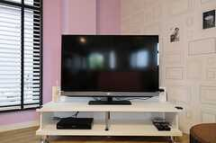共用TVの様子。(2013-04-30,共用部,TV,1F)