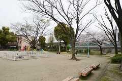 シェアハウスの近くには大きな公園があります。(2013-04-01,共用部,ENVIRONMENT,1F)