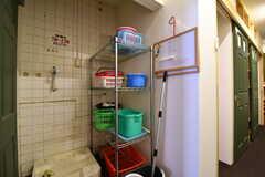 ランドリースペースの様子。洗濯機を設置予定とのこと。(2017-02-06,共用部,LAUNDRY,3F)