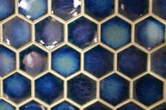 六角形、蜂の巣の形をしたタイル。(2018-01-29,共用部,OTHER,1F)