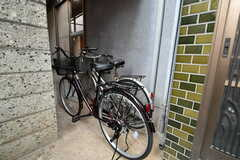 自転車置き場の様子。(2018-01-29,共用部,GARAGE,1F)