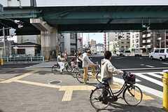 各線・緑橋駅前の様子。(2016-04-06,共用部,ENVIRONMENT,1F)