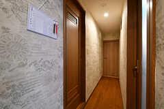 廊下の様子。左手前のドアがバスルームです。(2017-04-04,共用部,OTHER,2F)