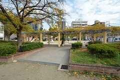 目の前にある公園の様子2。(2014-12-08,共用部,ENVIRONMENT,1F)