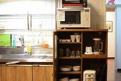 食器棚の様子。(2015-06-15,共用部,KITCHEN,4F)