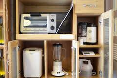 充実したキッチン家電。ホームベーカリーもあります。(クッキング)(2011-11-09,共用部,LIVINGROOM,12F)