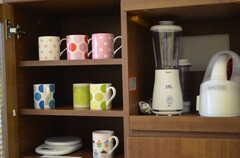 食器棚の様子。(カフェスタイル)(2012-11-28,共用部,OTHER,4F)