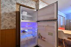 冷蔵庫の様子。(2017-10-25,共用部,KITCHEN,1F)